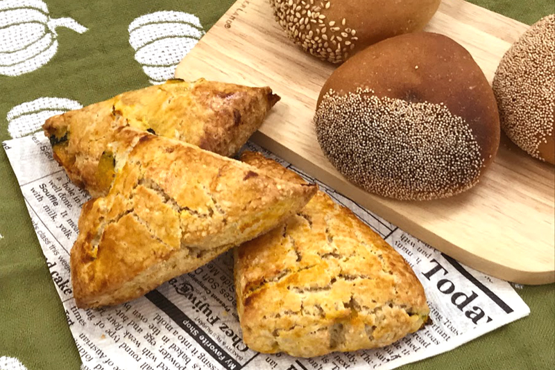 かぼちゃパン 栗のパン